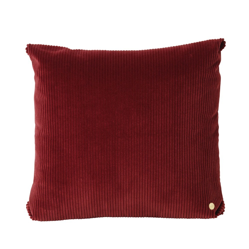 Corduroy cushion brick Ferm Living