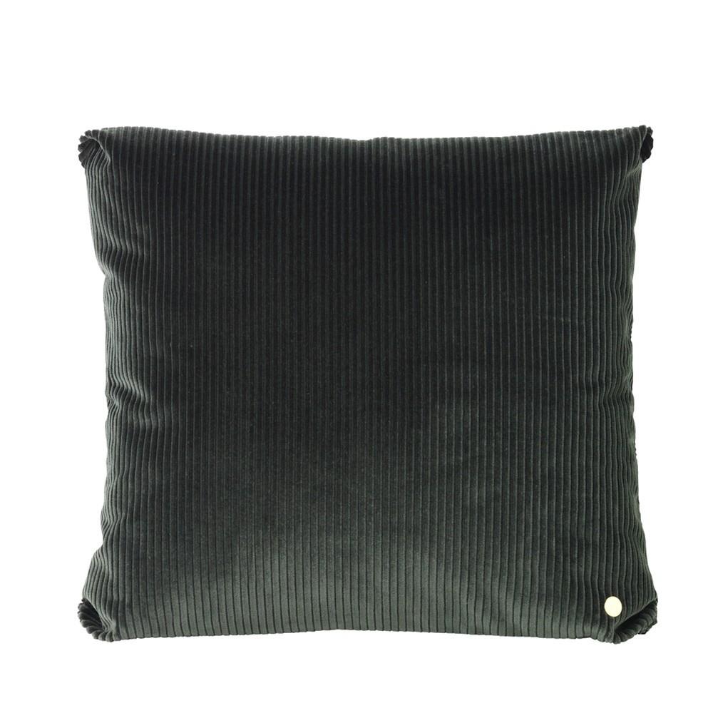 Corduroy cushion green Ferm Living