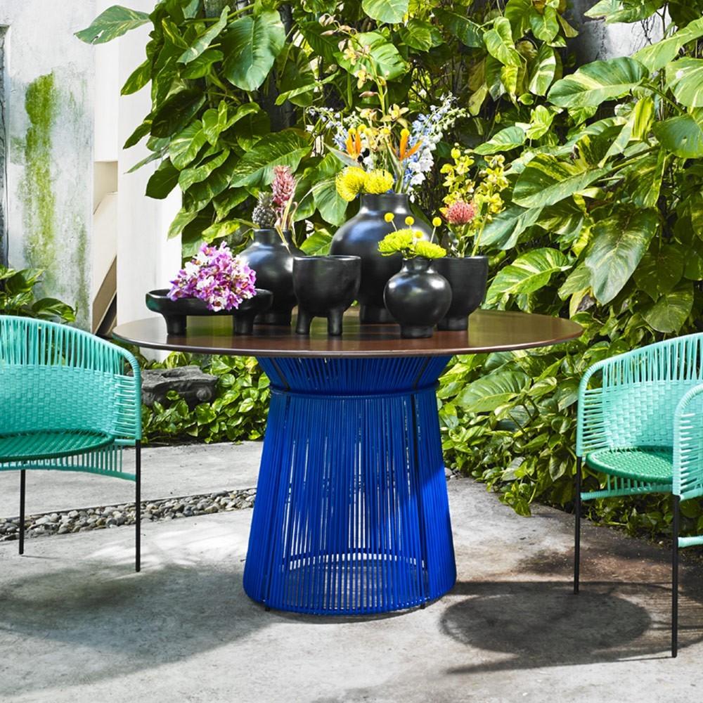 Caribe tafel blauw / zwart ames