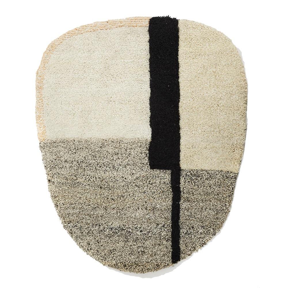 Nudo rug S white/beige/rose ames