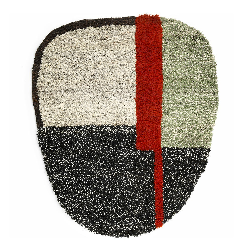 Nudo rug S grey/green/black ames