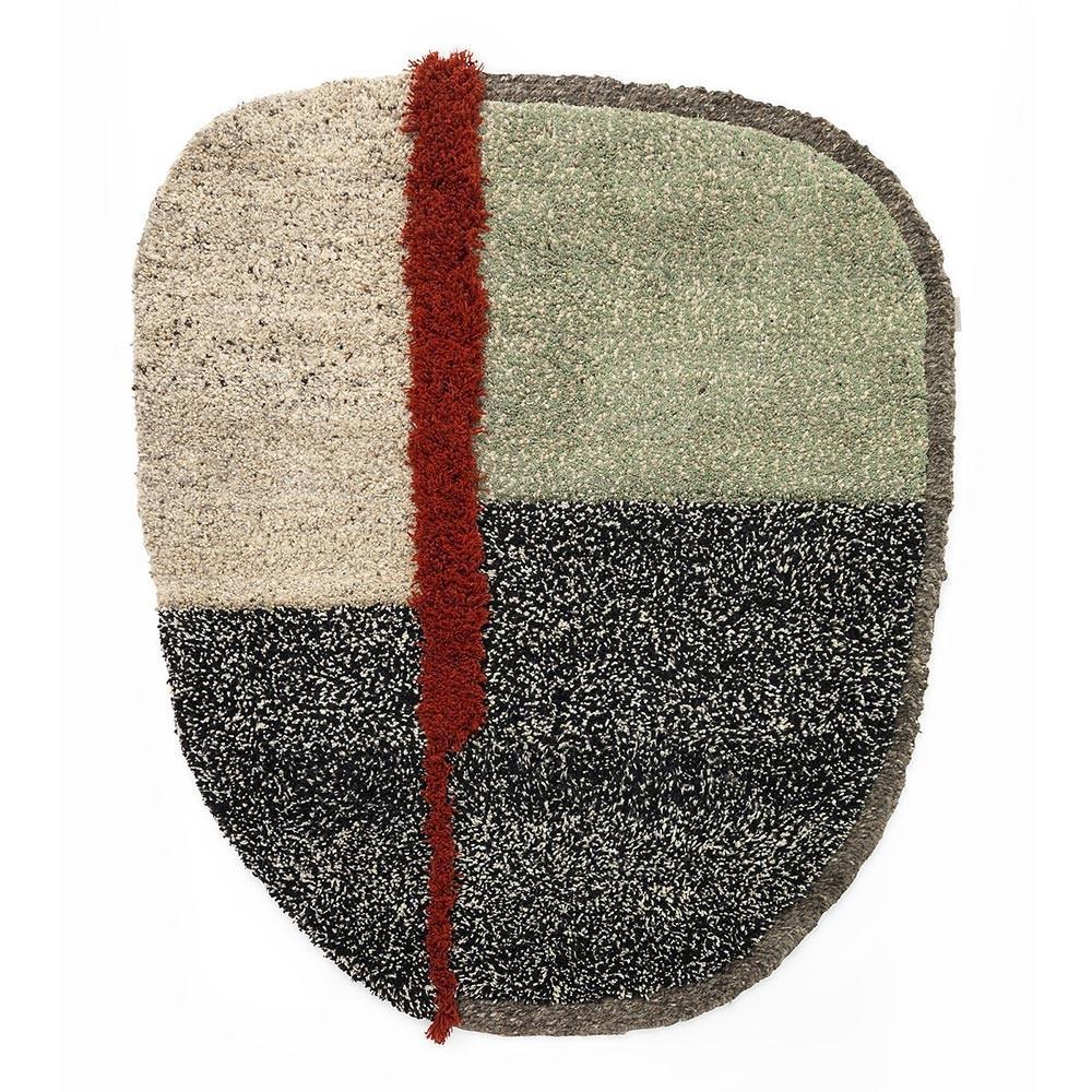 Nudo rug L grey/green/black ames