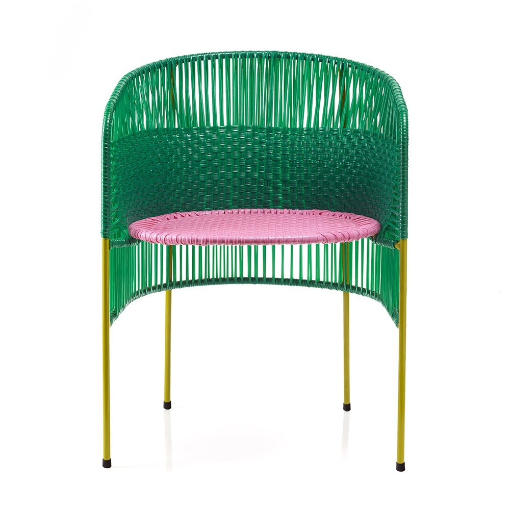 Chaise Caribe green/pink/curry ames