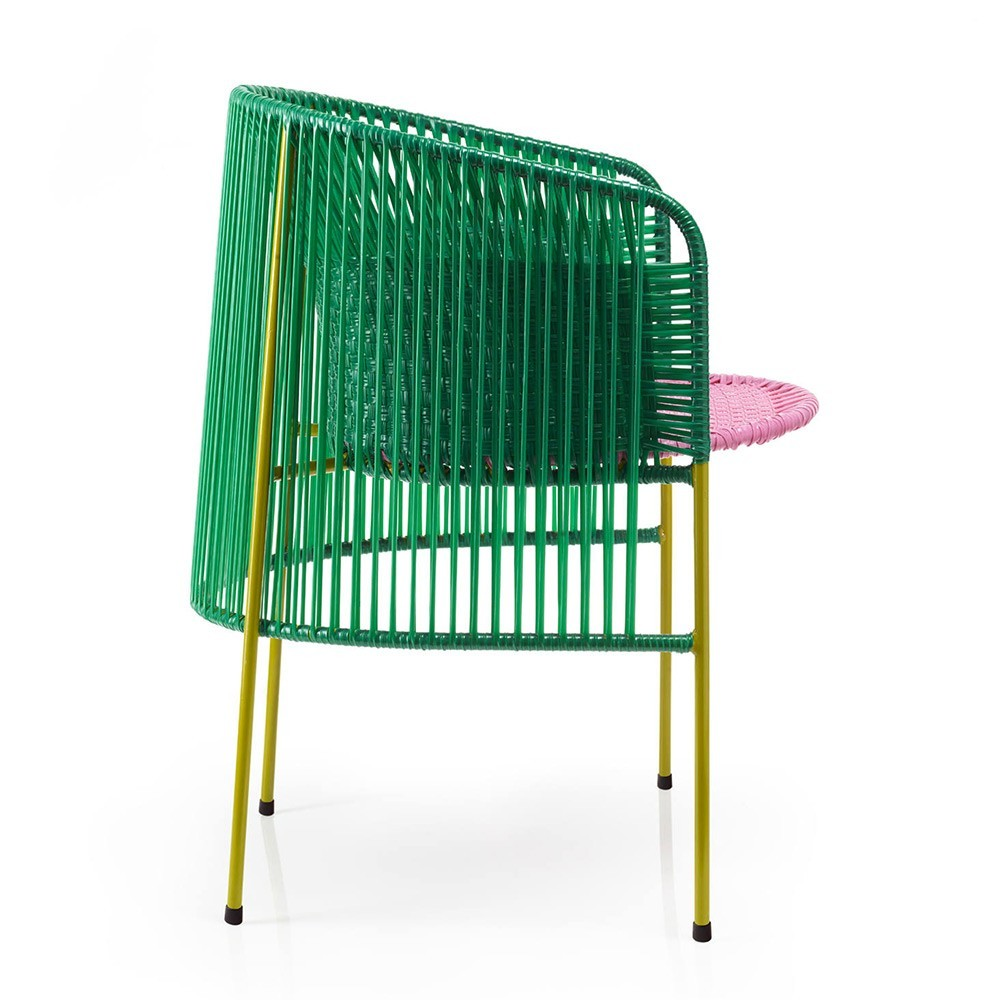 Caribe dining chair green/pink/curry ames