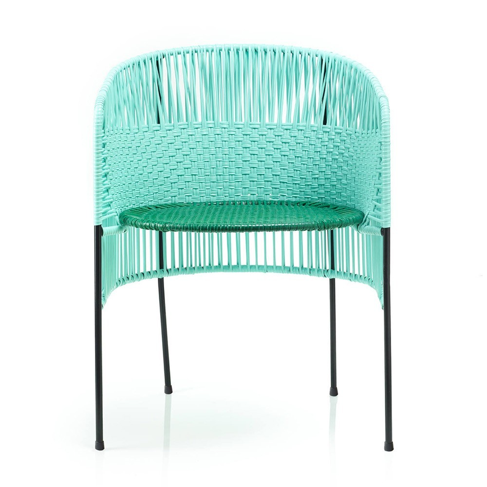 Caribe dining chair mint/green/black ames