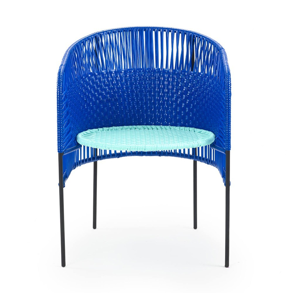 Chaise Caribe blue/mint/black ames