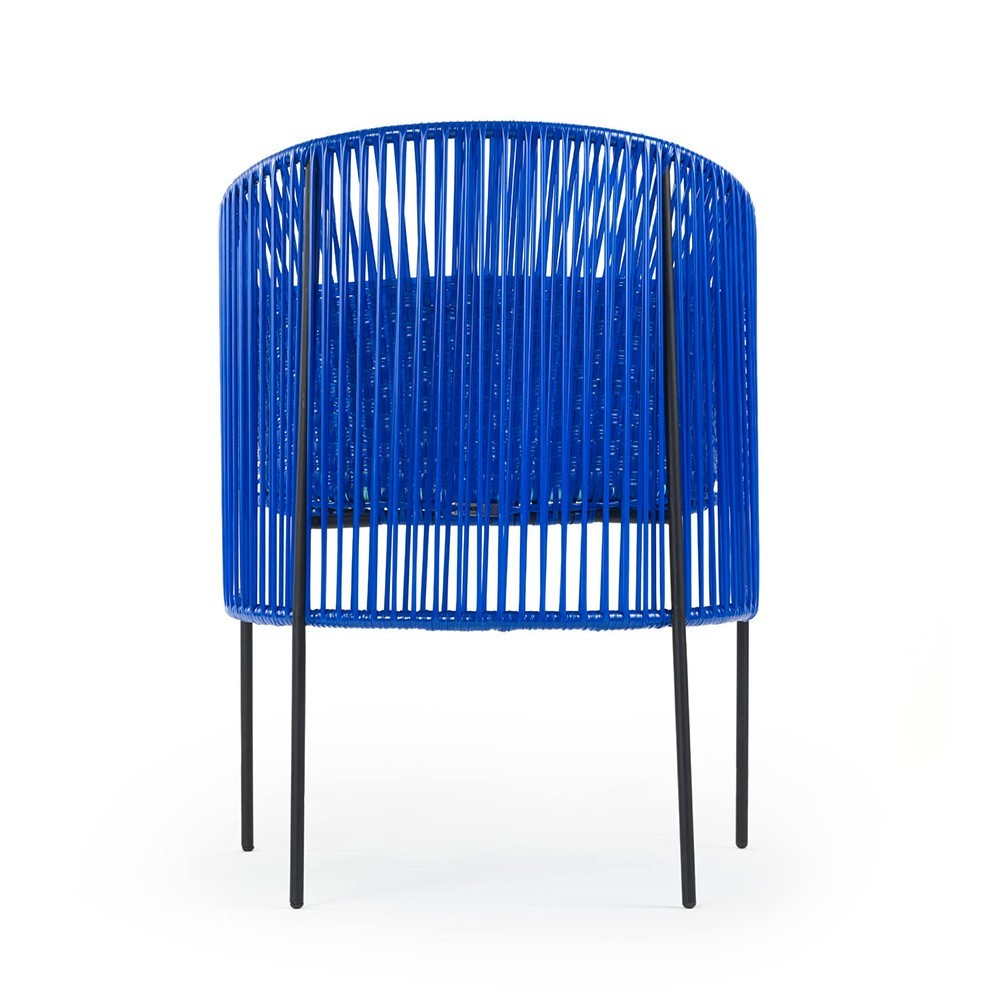 Caribe dining chair blue/mint/black ames