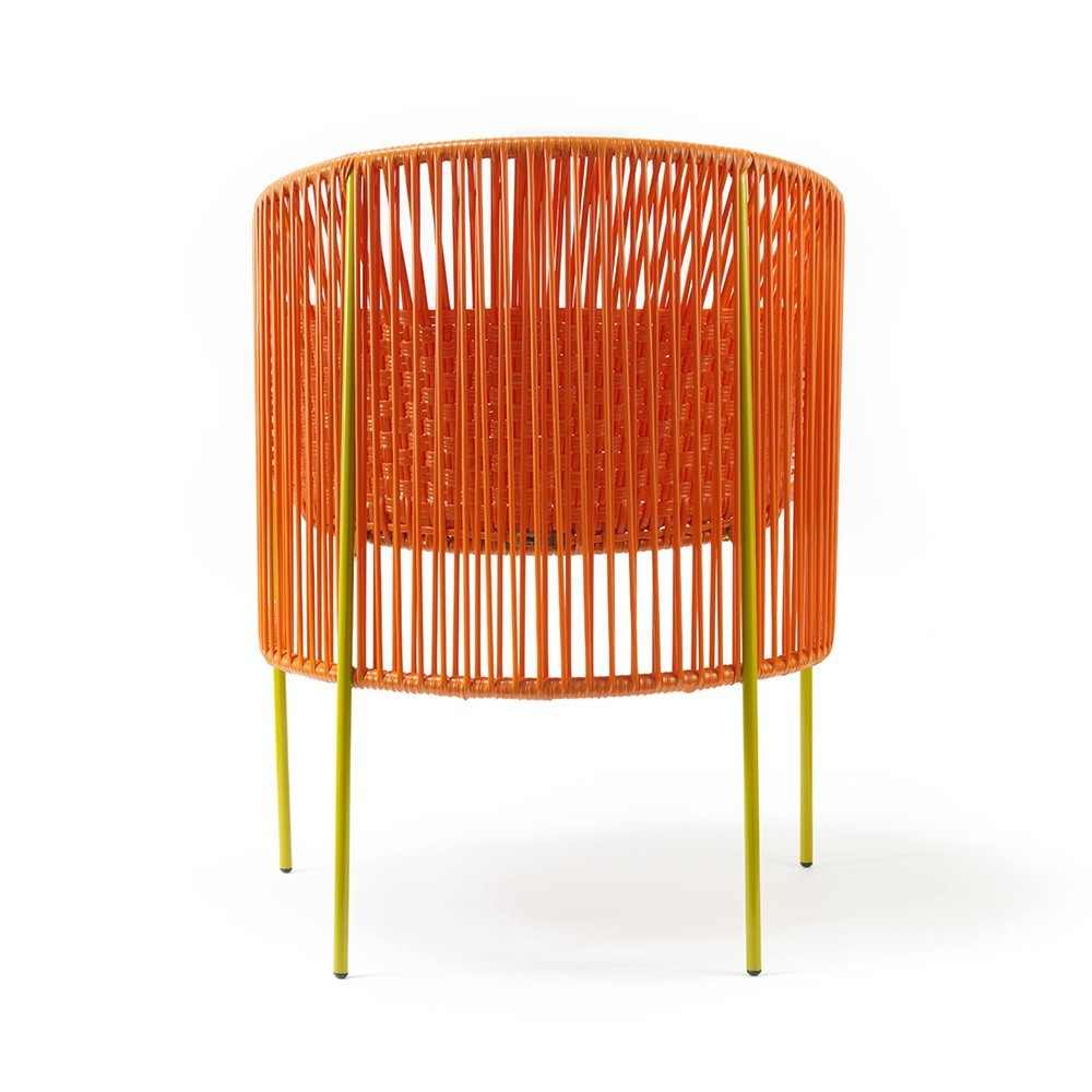Caribe dining chair orange/rose/curry ames