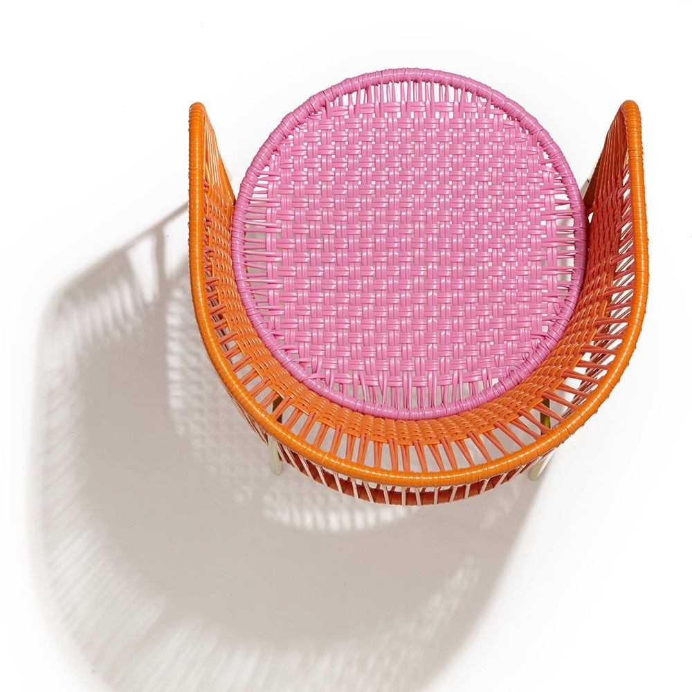 Chaise Caribe orange/rose/curry ames