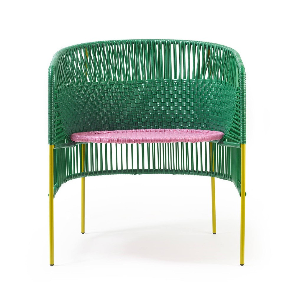 Chaise Lounge Caribe green/pink/curry ames