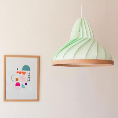 Hanglamp Wave pastel groen Snowpuppe