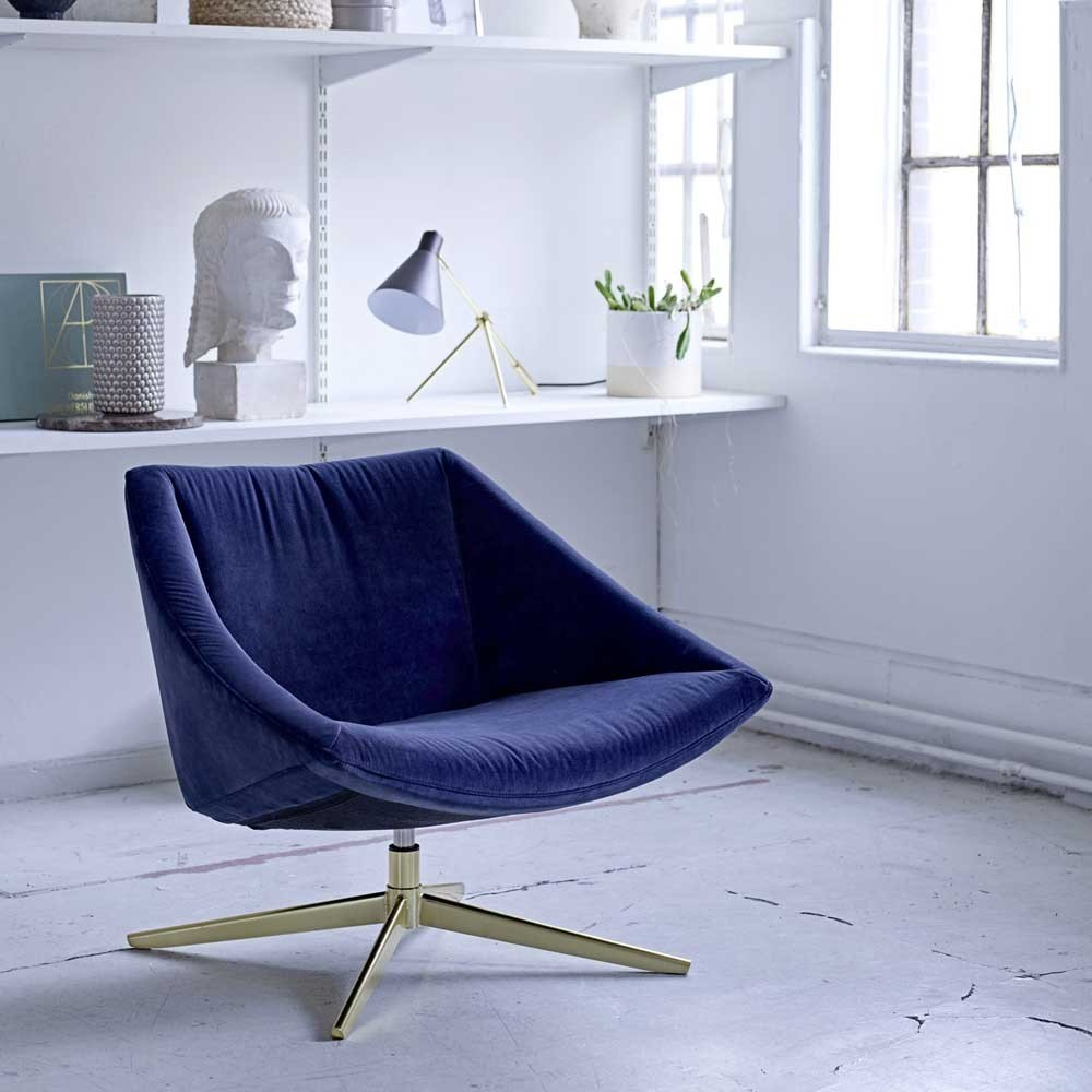 Elegante fauteuil blauw Bloomingville