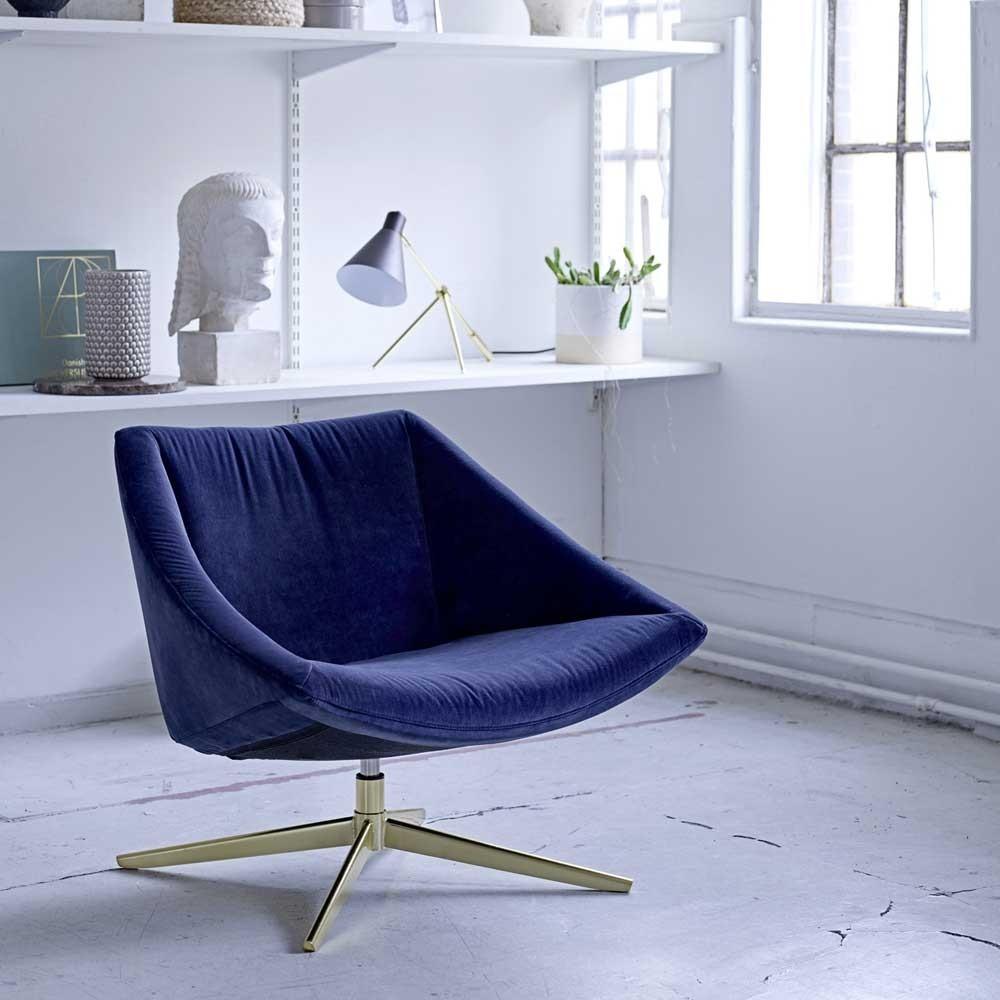 Sillón elegante azul Bloomingville