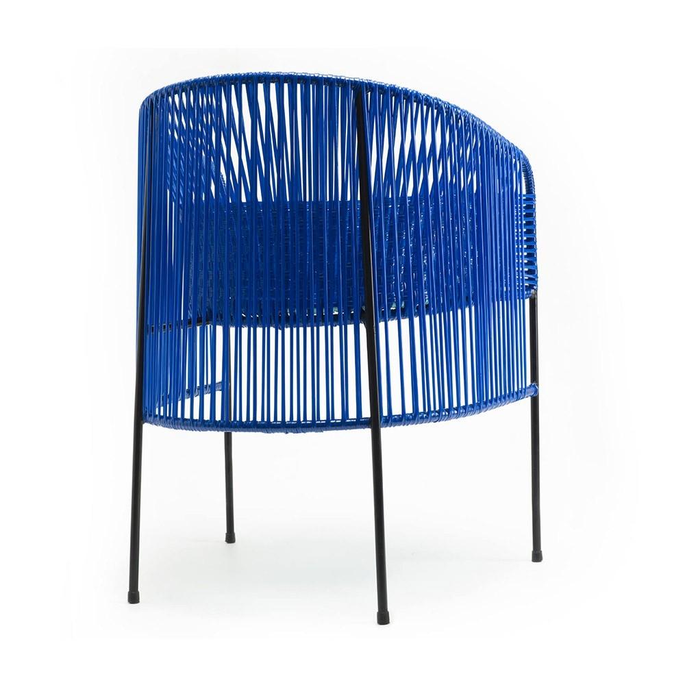 Stoel Lounge Caribe blauw / mint / zwart ames