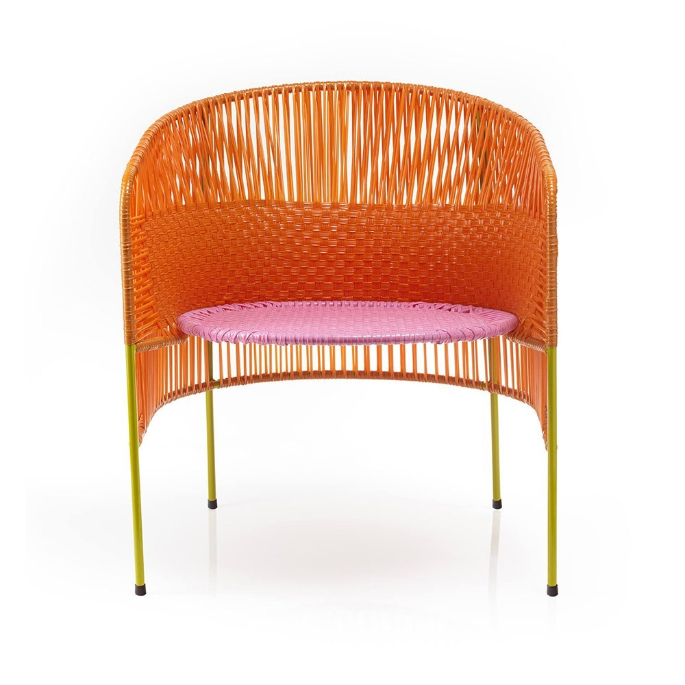 Chaise Lounge Caribe orange/rose/curry ames