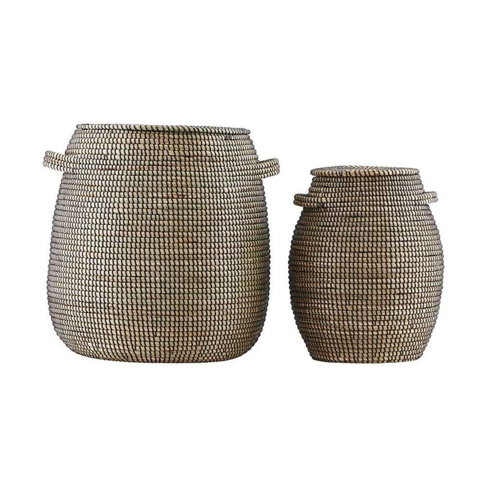 Baskets Effect black/natural (pack of 2) House Doctor