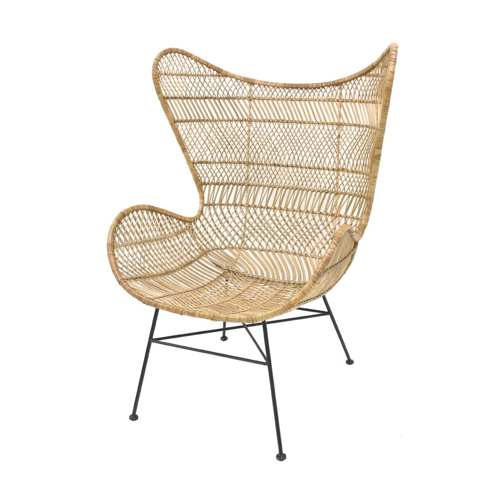 Bohemian rattan armchair natural HKliving