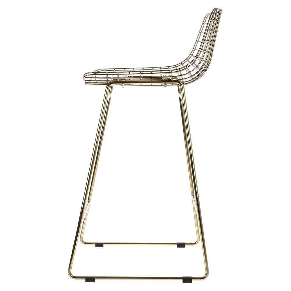 Wire bar stool brass HKliving