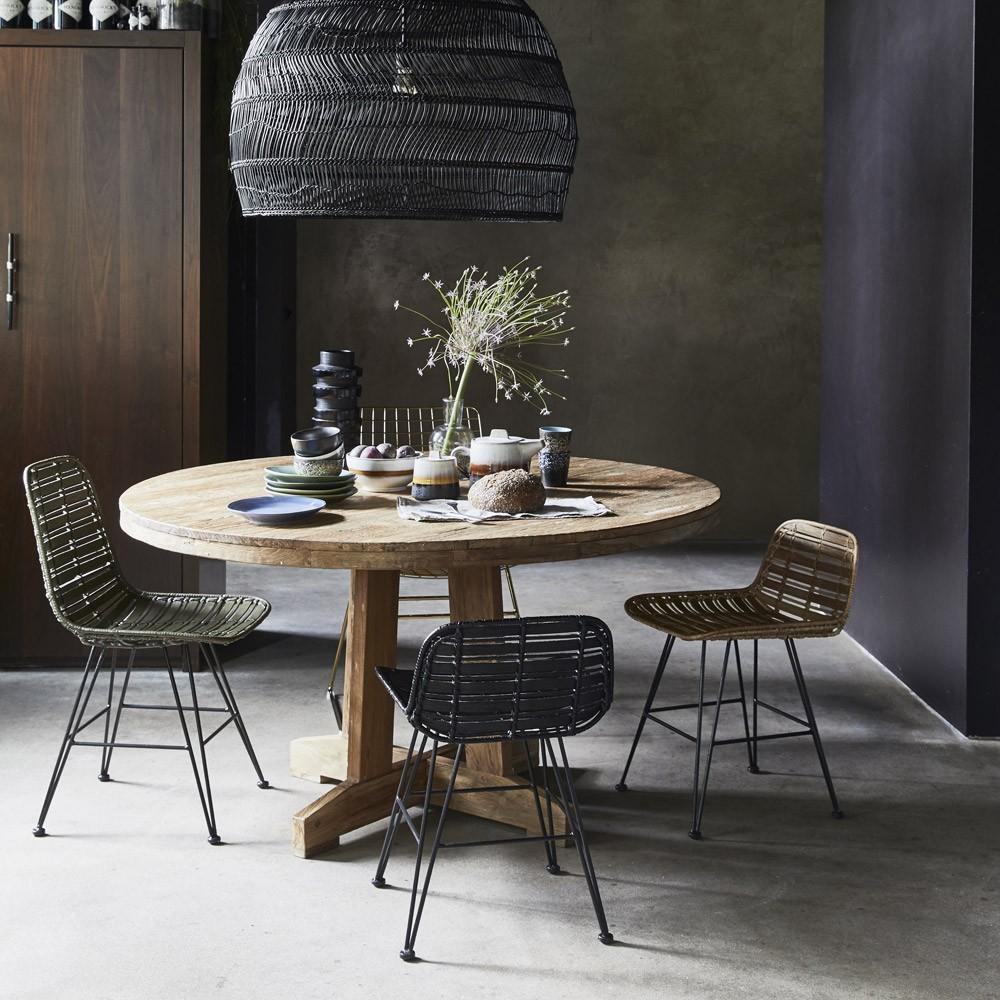 Round teak table HKliving