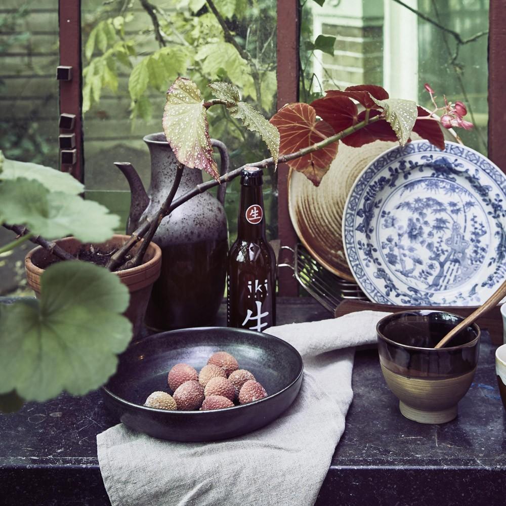 Assiette rustique Kyoto Ø21,5 cm (lot de 4) HKliving