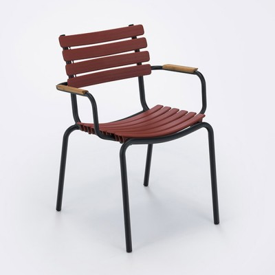 Click chair bamboo armrests paprika Houe