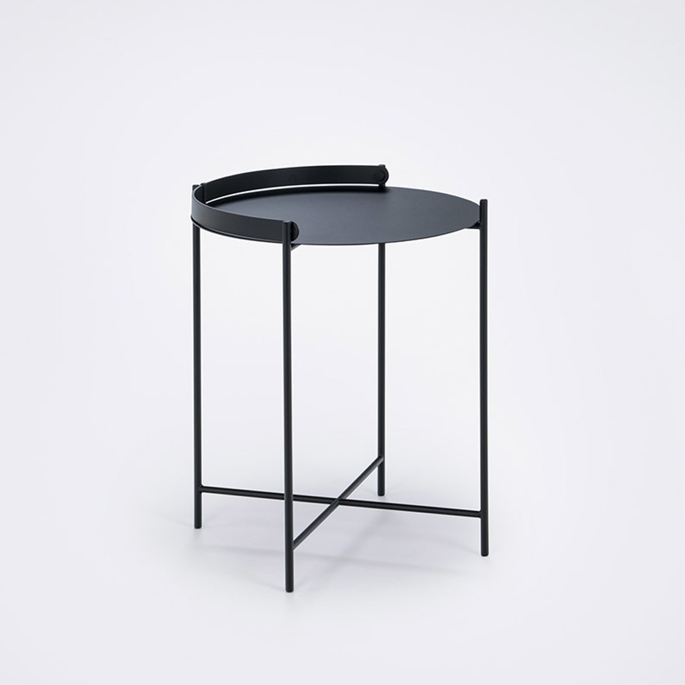 Edge tray table Ø46cm black Houe