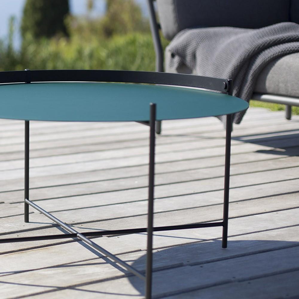 Edge tray table Ø46cm pigeon blue Houe