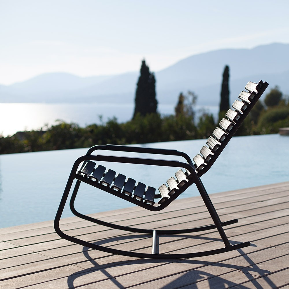Rocking chair Clips accoudoirs bambou noir Houe