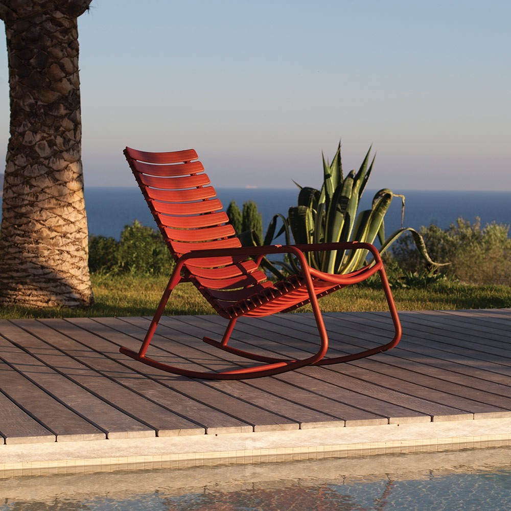 Rocking chair Clips accoudoirs bambou prune Houe