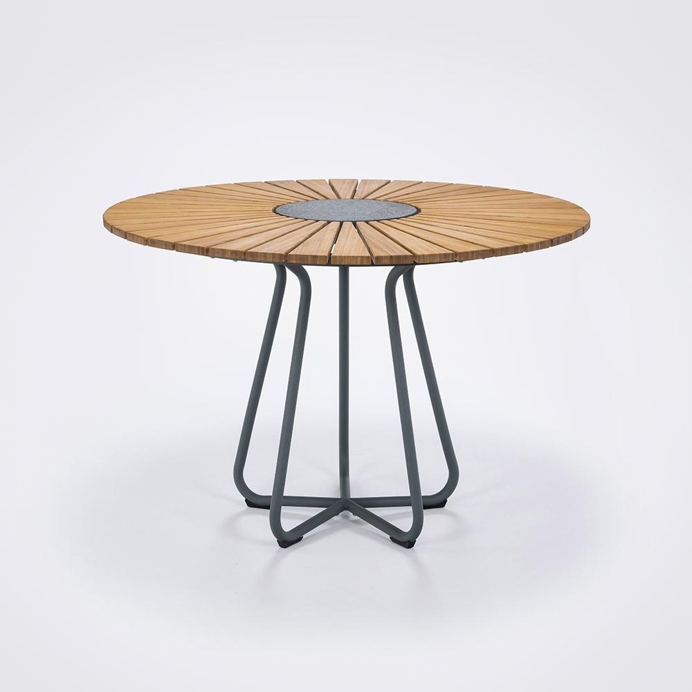 Cirkel eettafel Ø110 cm bamboe Houe