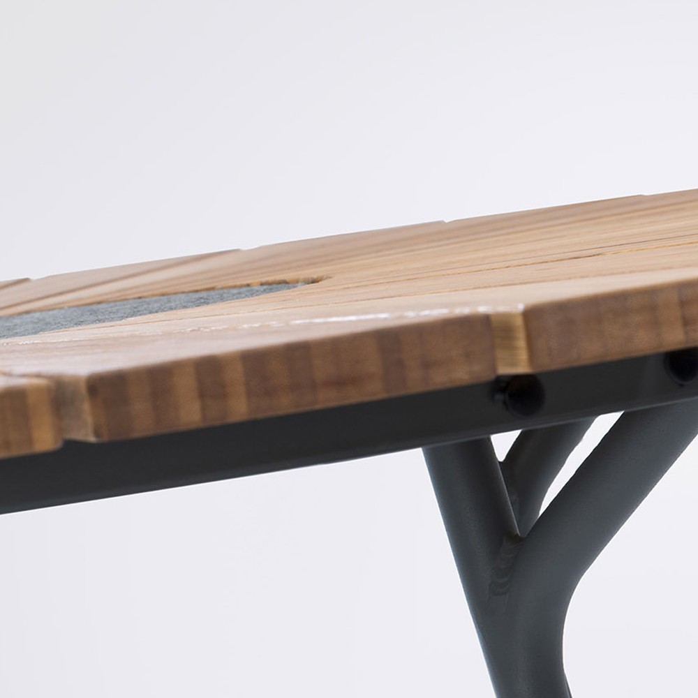 Circle dining table Ø110 cm bamboo Houe