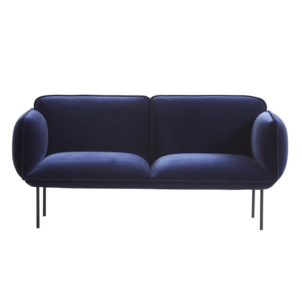 Nakki 2-seater sofa velvet Kvadrat Harald 3 fabric Woud