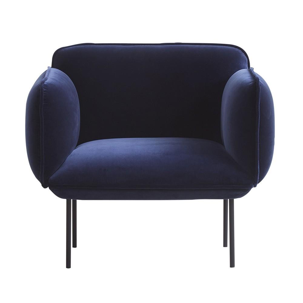 Nakki fauteuil in Kvadrat Harald stof 3 Woud