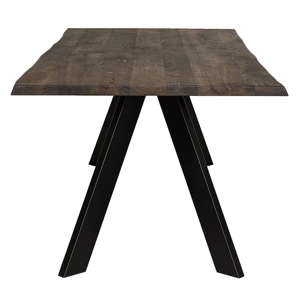 Raw dining table brown oak Bloomingville