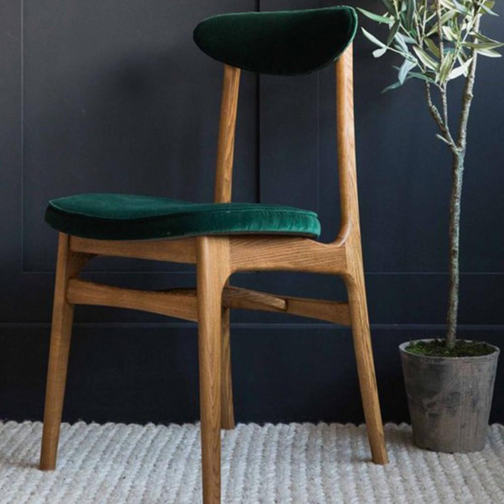 200-190 chair Velvet bottle green 366 Concept