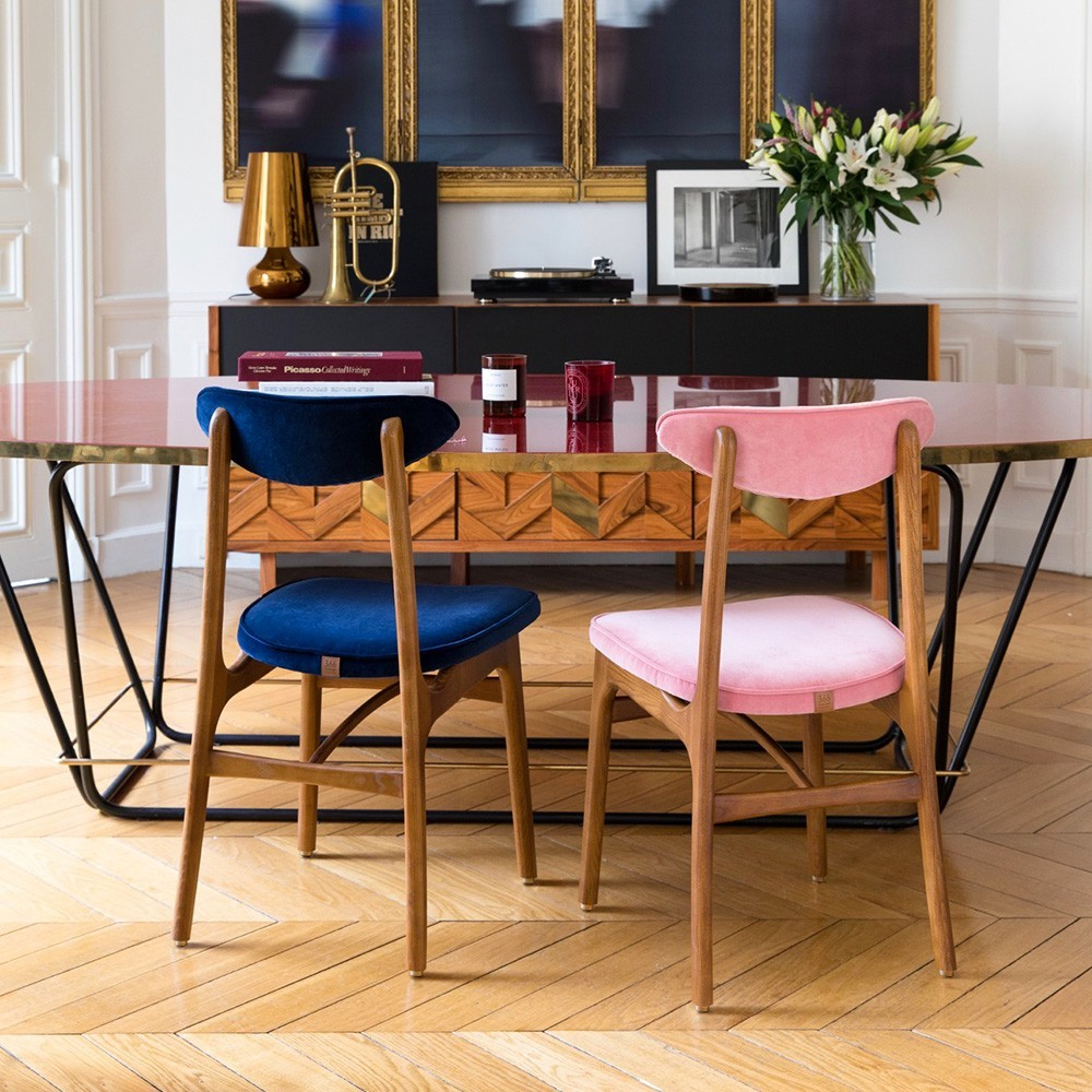 200-190 chair Velvet powder pink 366 Concept