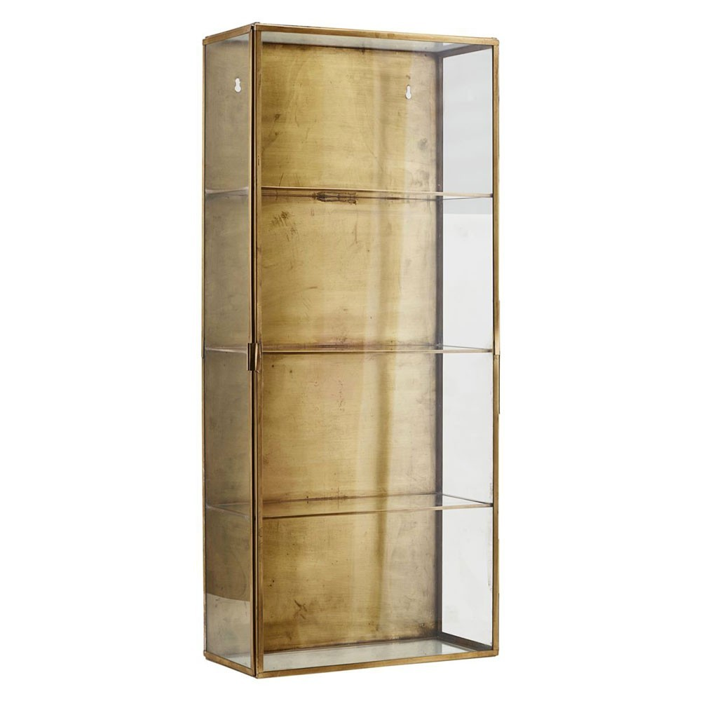 Cabinet glass & brass L House Doctor