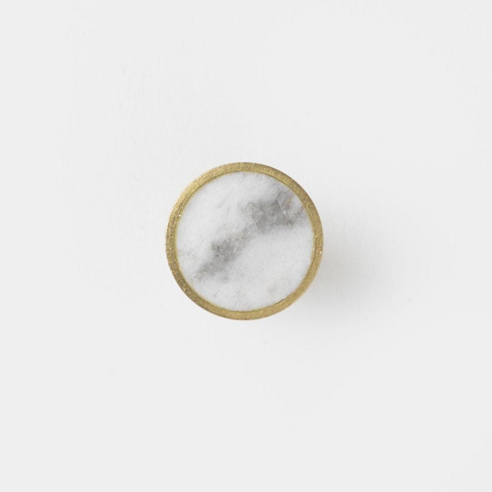 Patère Stone marbre blanc S Ferm Living