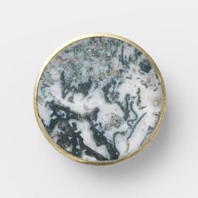 Stone hook Agate moss L