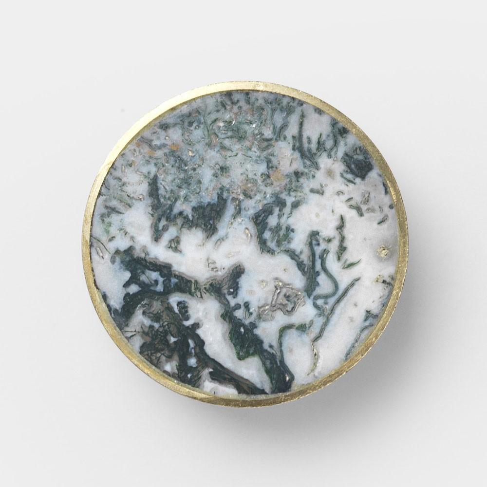 Stone hook Agate moss L Ferm Living