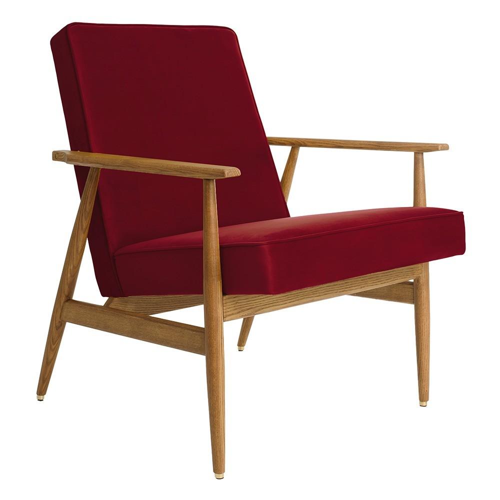 Fox Lounge chair Velvet merlot 366 Concept