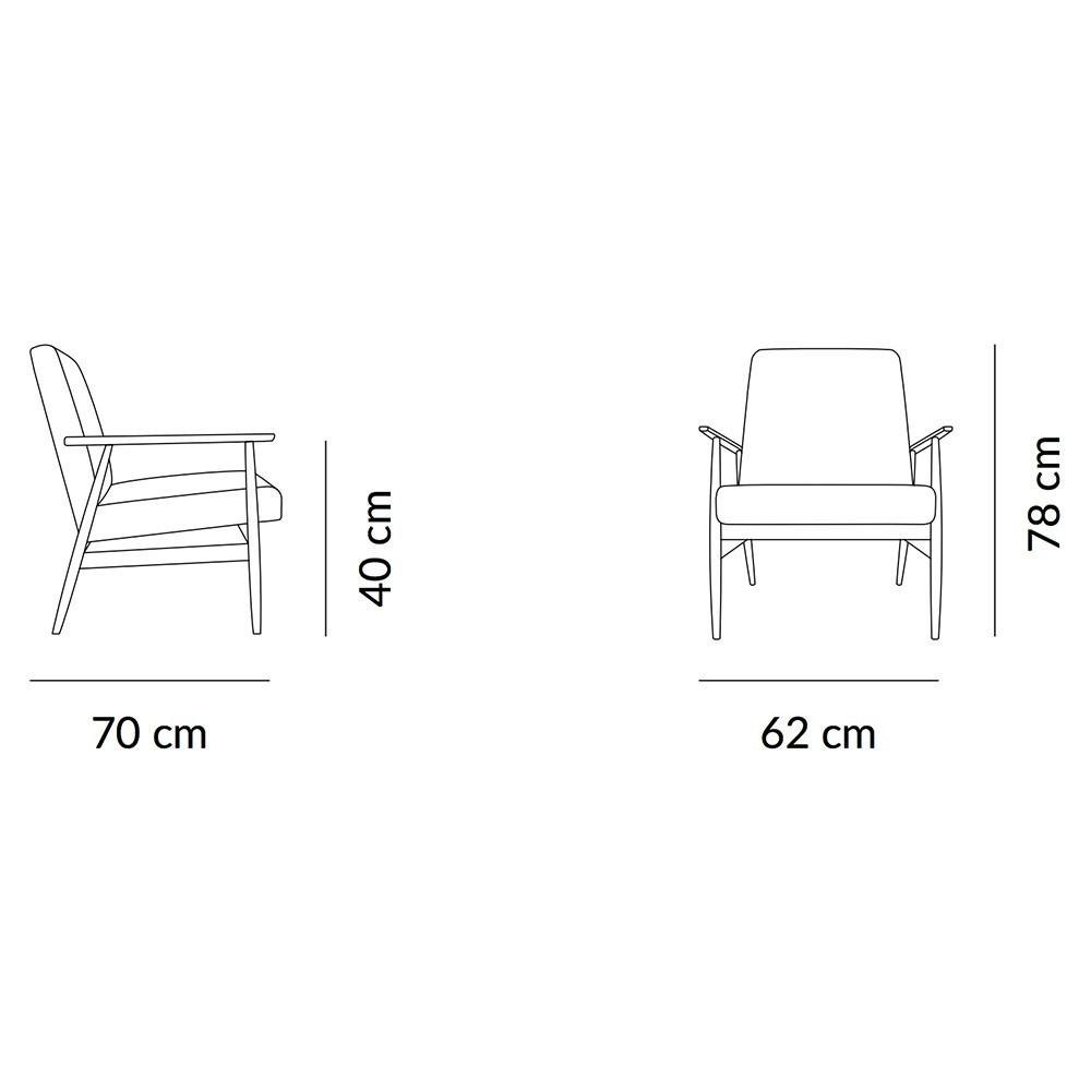 Fox Lounge chair Velvet indigo 366 Concept