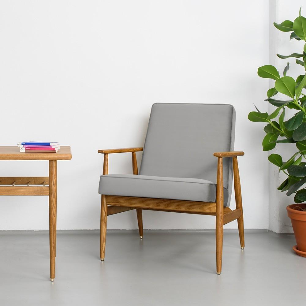 Chaise lounge Fox Velours gris 366 Concept