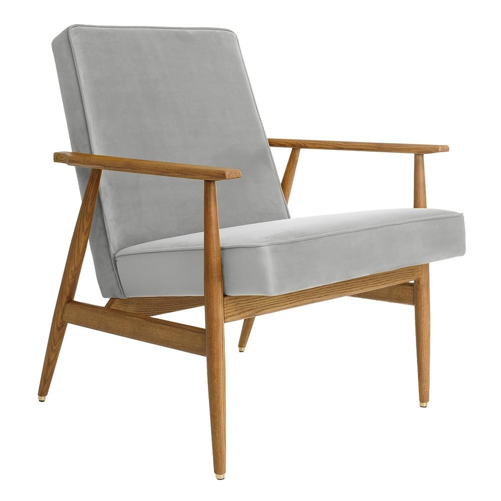 Fox loungestoel Grijs fluweel 366 Concept