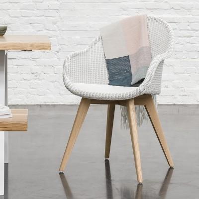 Avril HB stoel onderstel eiken