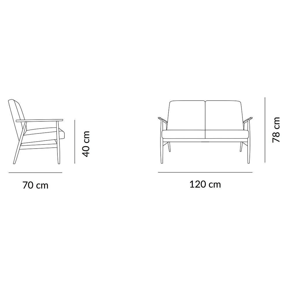 Fox sofa Loft mustard 366 Concept