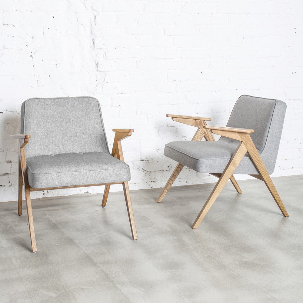 Bunny armchair Loft silver 366 Concept