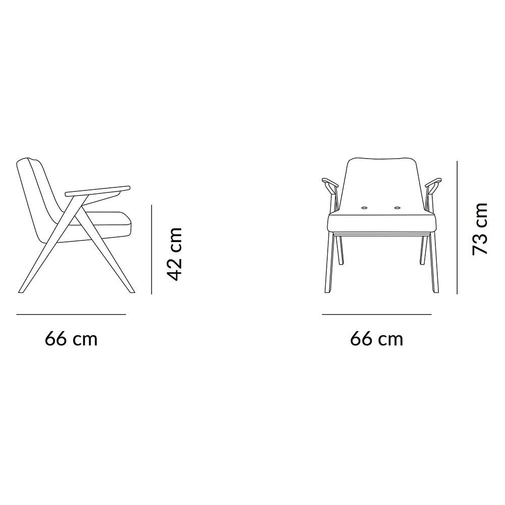 Bunny fauteuil Indigo fluweel 366 Concept