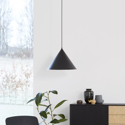 Ringvormige hanglamp zwart Woud