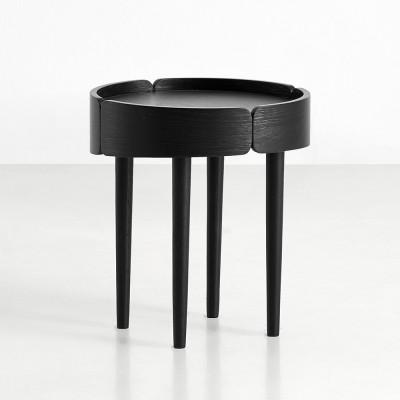 Skirt side table black Woud